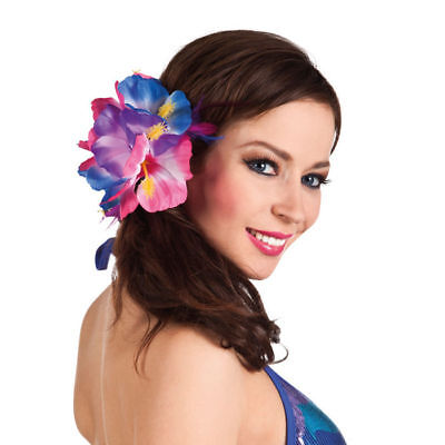 Haarschmuck Hibiskusblume mit Haarclip, Hawaiikostüm Zubehör (Hawaii Kostüm Schmuck)