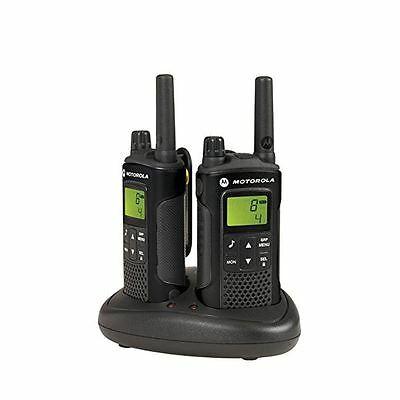 Motorola XT180 Walkie Talkie Two Way Radio PMR446 Black Charger Twin Pack