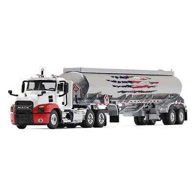 2019 First Gear DCP 1:64 *WHITE & RED* MACK ANTHEM Day Cab w/42' Fuel Tanker NIB