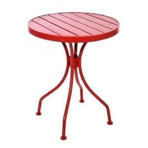 Table bistrot ronde + 2 chaises Neuf rouge