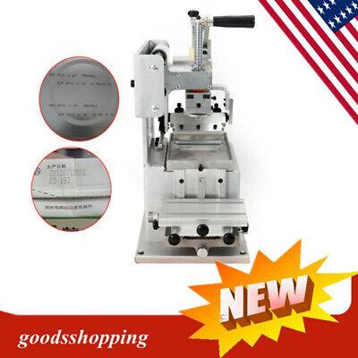 New Pad Printing Machine Manual Pad Printer Pen Ball Label Pvc Mug Diy Gift Logo