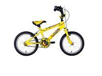 Kids Bike: Sonic Nitro Junior Boys BMX Bike - Bright Yellow, 16 Inch, used in great condition.
