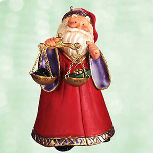 Hallmark Keepsake Ornament 2003 The Decision - Naughty or Nice Scale - #QXG8569