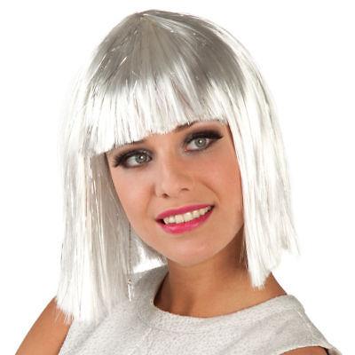 Perücke Gigi glamour, weiß mit silberstreifen