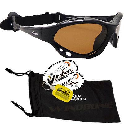 SeaSpecs Classic Sunset Specs Brown Water Sport Polarized Kitesurfing Sunglasses