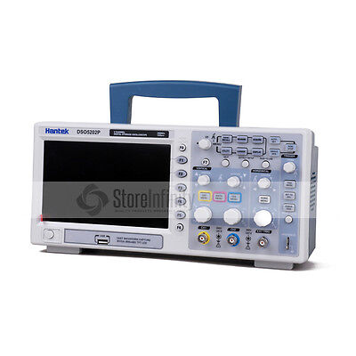"Hantek DSO5202P Digital Oscilloscope Oszilloskope 200MHz 1Gs 2CH LCD 7"" TFT DE"