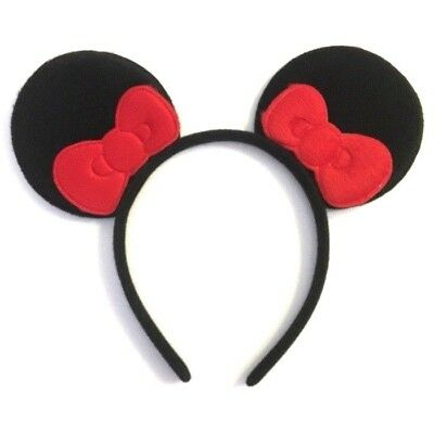 1 PC MICKEY MOUSE RED BOW EARS HEADBAND FITS MOST CHILDREN AND ADULTS](Black And Red Mickey Mouse Party Supplies)