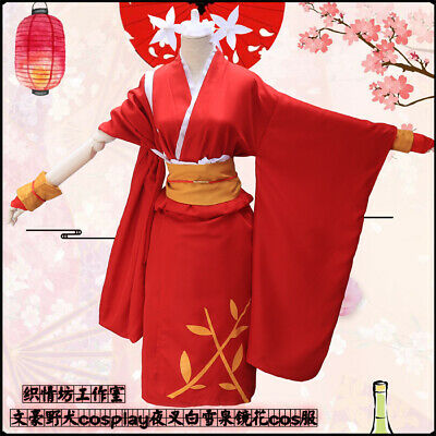 Anime Bungo Stray Dogs Izumi Kyoka Girl kimono Cosplay Dress Costume Role Play