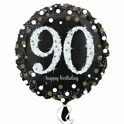 ng Birthday 90th, 45 cm Geburtstagsballon Heliumballon   (90 Th Geburtstag)