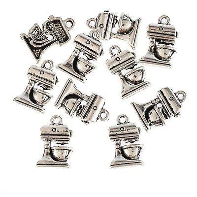 10pcs Food Mixer Cooking Appliance Beads Tibetan Silver Charms DIY Bracelet (Food Bracelet Charms Silver)