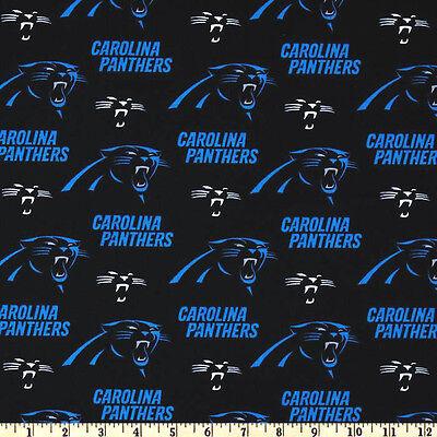 NFL CAROLINA PANTHERS PRINT 100% COTTON FABRIC BY THE 1/4 YARD