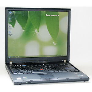 Lenovo Laptop ThinkPad T60 Core2 DVDRW 2GB RAM 60GB HDD WiFi 15""
