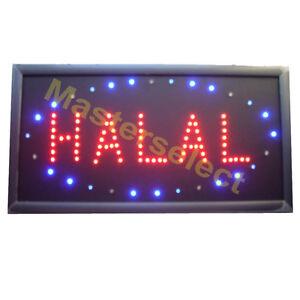 panneau enseigne lumineuse a leds halal pour commercant. Black Bedroom Furniture Sets. Home Design Ideas