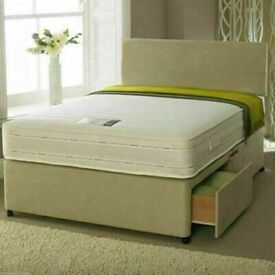 🔵💖🔴FASTEST DELIVERY 🔵💖🔴DIVAN SINGLE-DOUBLE-SMALL DOUBLE & KING SIZE BED BASE w MATTRESSES