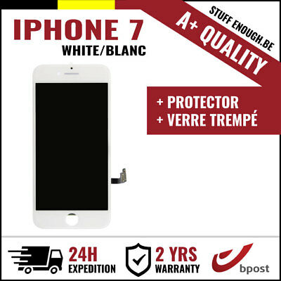 A+ LCD VITRE TACTILE DISPLAY SCHERM ÉCRAN WHITE BLANC &VERRE TREMPÉ FOR IPHONE 7