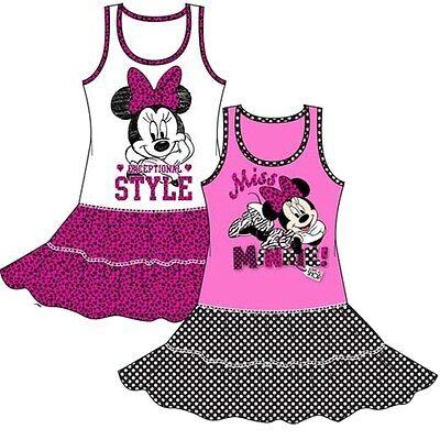 Disney Minnie Kleid (Disney Minnie Mouse Maus Mädchenkleid Kinder Sommer  Kleid  Mädchen  92- 128)
