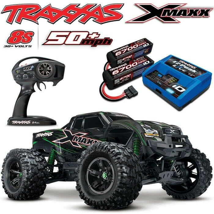 12b21a0c76ff9b Details about NEW Traxxas X-MAXX 8S 4WD Brushless RTR Truck GREEN w 6700MAH  4S BATTS   CHARGER