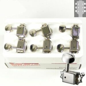 Schaller Original F-Series ST6B tuners/machine heads 3x3 Nickel, 10160123