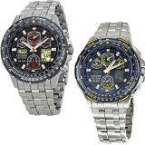 Citizen Skyhawk A-T Stainless Steel Chronograph Atomic Mens Watch