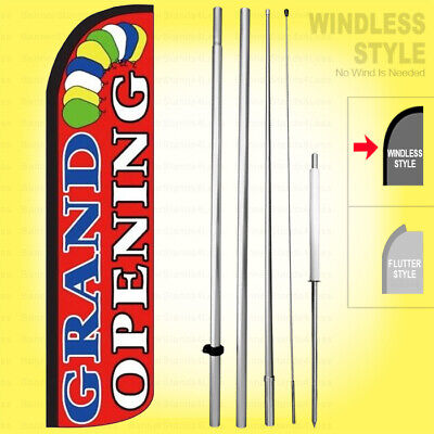 Grand Opening - Windless Swooper Flag Kit 15 Feather Banner Sign Rz004-h
