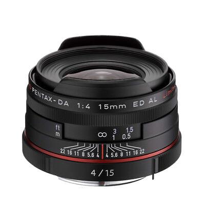 New PENTAX HD PENTAX DA 15mm F4 ED AL Limited Lens Black  K Mount