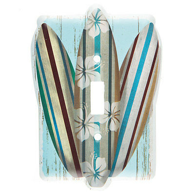 Surf Board Metal Light Switch Plate - Nautical Beach House Decor