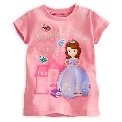 DISNEY STORE SOFIA THE FIRST GIRLS TEE T-SHIRT ROYAL PREP BEST PRINCESS NWT