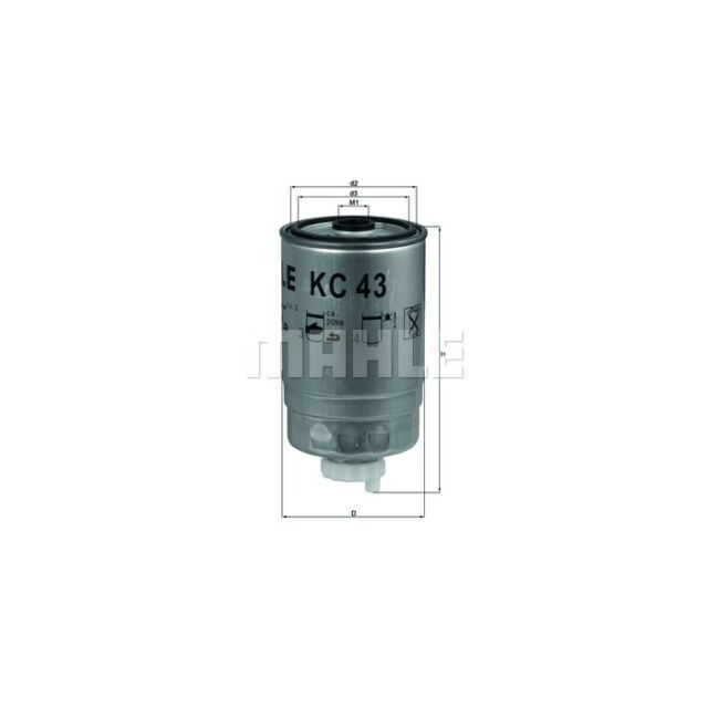 KNECHT Kraftstofffilter  KC 43  IVECO