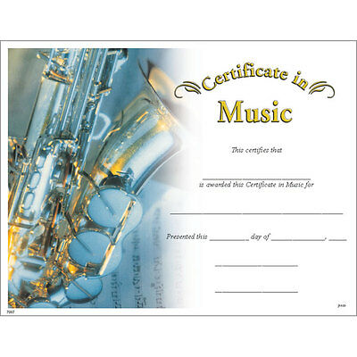 Award Certificate of Music, Pack of 15](Certificate Of Award)