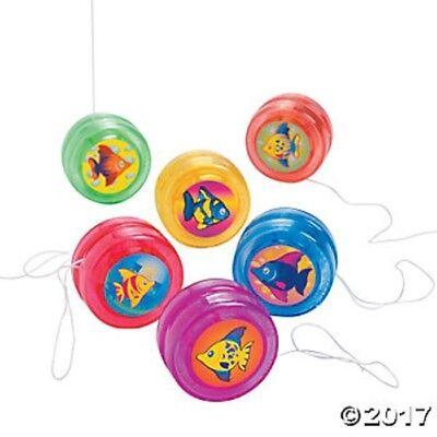 12 Fish Ocean Theme Mini Yo Yos Birthday Party Favors Gifts Kids Luau Treats