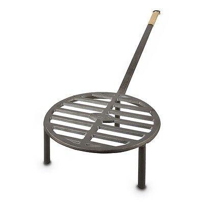 Feuerrost mit Handgriff Gusseisen Grillrost mit Füßen H25 cm Gussrost Grill Rost