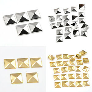 Lots Pyramid Metal Cone DIY Studs Rivet Nailhead Leather Craft Spots Spike Punk