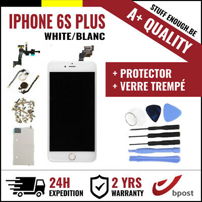 A+ LCD SCHERM ÉCRAN FULL ASSEMBLY WHITE BLANC +TOOLS&VERRE TREMPÉ IPHONE 6S PLUS