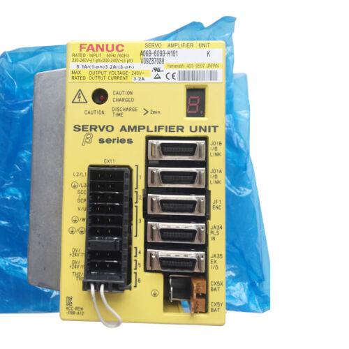 New Original 1pc Fanuc Servo Amplifier A06b-6093-h151 Free Expedited Shipping