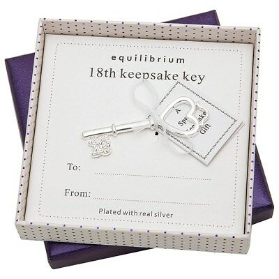 Equilibrium Versilbert 18. Geburtstagsgeschenke Freund Andenken Schlüssel