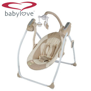 Brand New Baby Love Electric Swing Chair with Remote Control - Beige