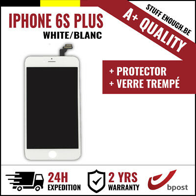 A+ LCD SCREEN DISPLAY SCHERM ÉCRAN WHITE BLANC & VERRE TREMPÉ FOR IPHONE 6S PLUS