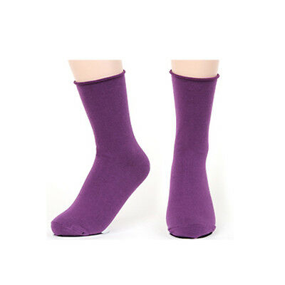 New Korea Fashion Color Roll Top Solid Color Ankle Socks Cotton Casual Socks