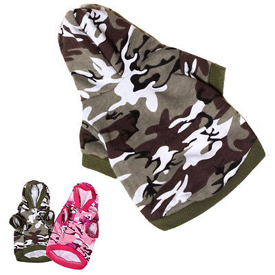 Newest Small Dog Clothing Pet Sweatshirt Camo Camouflage Coats Hoodies Costume
