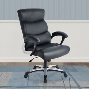 Corliving Black Leatherette Managerial Office Chair - Black