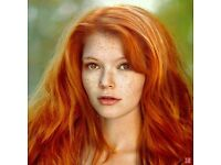 Red head models wanted! The more vivid the better.
