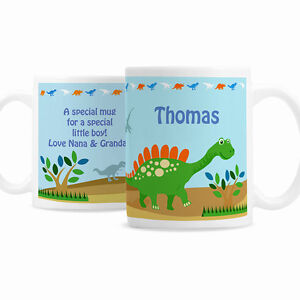 Personalised-Childrens-Dinosaur-Mug-Boys-Birthday-Christmas-Message-Cup