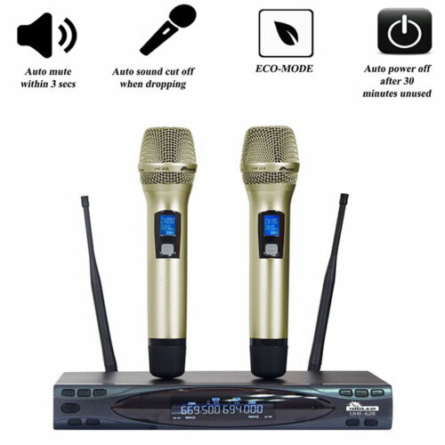 IDOLMAIN UHF-628 Auto Sound Cut Off When Dropping Dual Wireless - MODEL 2021