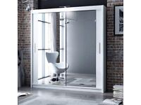 DISCOUNTED DEAL,, SIZE 180 cm WIDE Mirror Door Sliding Wardobe - GERMAN MADE Solid MDF Wood