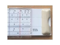 Vintage Scientific Slide Rule Calculator - Helix Regal A102S + Slip Case