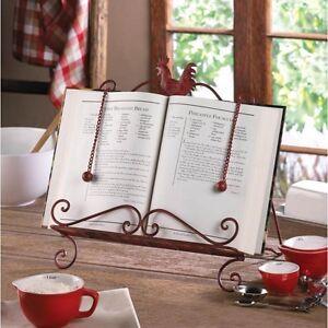 Rooster Cookbook Holder Kitchen Rack