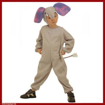 ELEFANTEN KINDER KOSTÜM Karneval Fasching Tier Kinderkostüm Tierkostüm 104 3665 (Elefanten Kinder Kostüme)