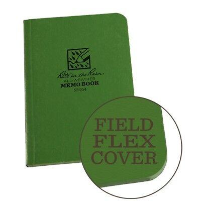 Rite In The Rain 954 All-weather Universal Field-flex Memo Book Green 3.5 X 5