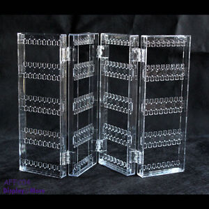 New Acrylic Earring Shop Display Stand Holder-Clear-4 Fold