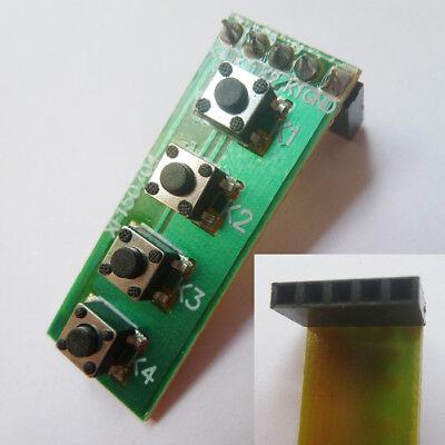 2.54mm 4 Key Matrix Membrane Switch Control Panel Slim Keyboard Keypad